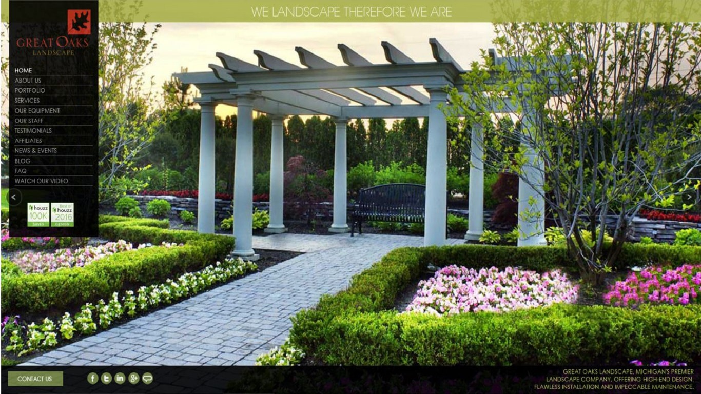 Responsive Design Website Landscape Design Company iOT Marketing Media Digital Advertising Agency for Small Business