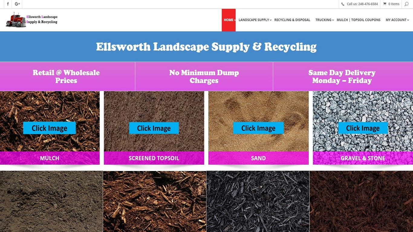 Responsive Design Website Landscape Supply Company iOT Marketing Media