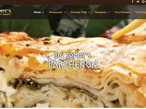 Website Design – Restaurant & Comedy Club