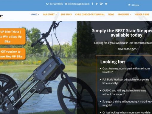Responsive Design Website – Sports Equipment Exercise Bike