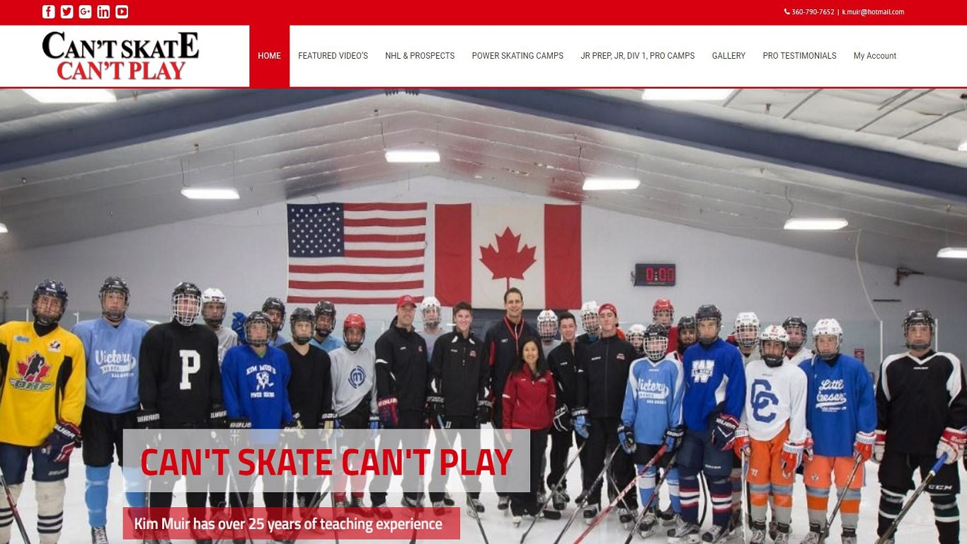 Website Design Sports Professional Skating Digital Advertising Agency for Small Business