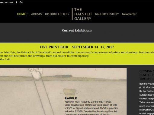 Responsive Design Website – Fine Art Gallery